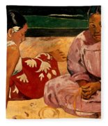 Gauguin: Tahiti Women, 1891 Fleece Blanket