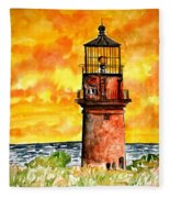 Gay Head Lighthouse Martha's Vineyard Fleece Blanket