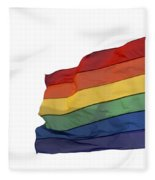 Gay Rainbow Flag  Fleece Blanket