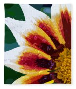 Gazania Flower Design Fleece Blanket