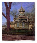 Gazebo At Wisconsin Club Fleece Blanket