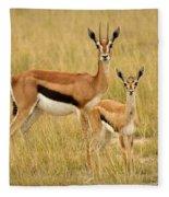 Gazelle Mother And Child Fleece Blanket