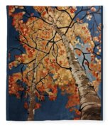 Gazing In Colorado Fleece Blanket