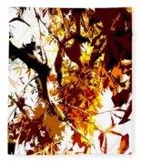 Gazing Into The Autumn Trees Fleece Blanket