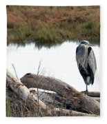 Gbh On Log Fleece Blanket