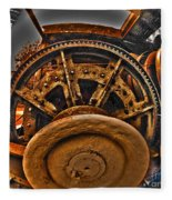 Gears Gone Mad Fleece Blanket