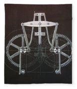 Gears No2 Fleece Blanket