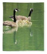 Geese And Babies Fleece Blanket