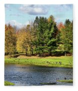 Geese Sanctuary Fleece Blanket