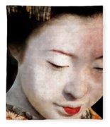 Geisha Girl Fleece Blanket