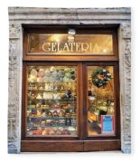 Gelateria In Assisi Fleece Blanket