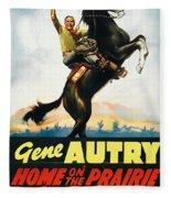 Gene Autry In Home On The Prairie 1939 Fleece Blanket