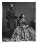 General Custer And His Wife Libbie Fleece Blanket