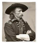 General Custer Fleece Blanket