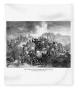 General Custer's Death Struggle  Fleece Blanket