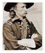 General George Custer Fleece Blanket