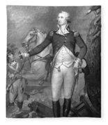 General George Washington At Trenton Fleece Blanket