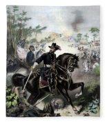 General Grant During Battle Fleece Blanket