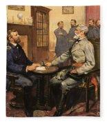 General Grant Meets Robert E Lee  Fleece Blanket