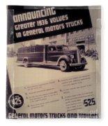 General Motor Truck Trailer Fleece Blanket