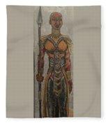 General Okoye Of The Wakandian Elite Forces   Fleece Blanket