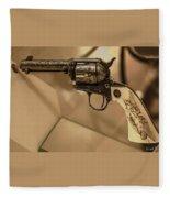 General Patton's Model 1873 Colt 45 Revolver  Fleece Blanket
