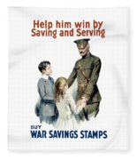 General Pershing - Buy War Saving Stamps Fleece Blanket