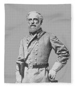 General Robert E Lee Fleece Blanket