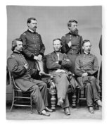 General Sherman And His Staff  Fleece Blanket