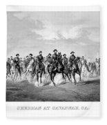 General Sherman At Savannah Fleece Blanket