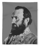 General Stonewall Jackson Profile Fleece Blanket