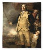 General Washington At The Battle Of Princeton Fleece Blanket