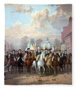 General Washington Enters New York Fleece Blanket