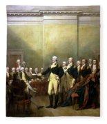 General Washington Resigning His Commission Fleece Blanket
