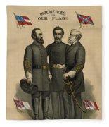 Generals Jackson Beauregard And Lee Fleece Blanket