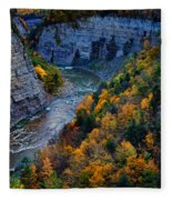 Genesee River Gorge II Fleece Blanket