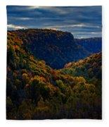 Genesee River Gorge Fleece Blanket