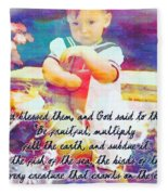 Genesis 1 28 Fleece Blanket
