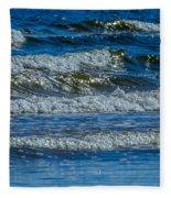 Gentle Roll Of The Waves Fleece Blanket