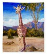 Geoffrey Giraffe Fleece Blanket