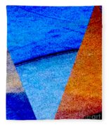 Geometric 2b  Abstract Fleece Blanket
