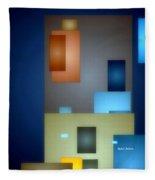 Geometric Abstract 0790  Fleece Blanket