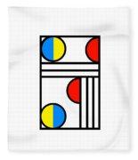 Geometric Art 429 Fleece Blanket
