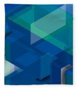 Geometric Composition  Fleece Blanket