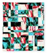 Geometric Confusion 2 Fleece Blanket