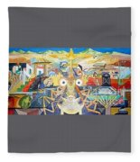 Geometric Cross Section Fleece Blanket