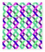Geometric Crosses Fleece Blanket