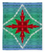 Geometric Fantasy Fleece Blanket