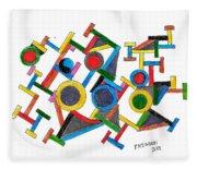 Geometric Fun Fleece Blanket