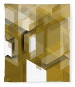 Geometric Gold Composition Fleece Blanket
